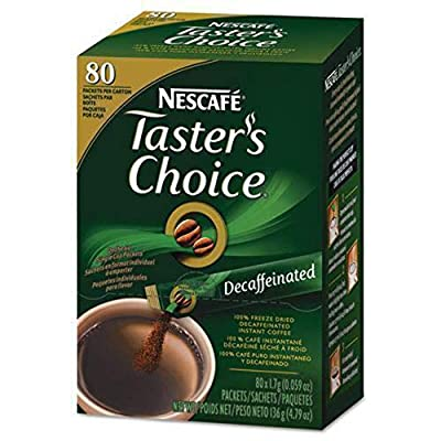 Nescafe Taster's Choice Instant Coffee, Decaffeinated, 80 Count Single Stick from Taster's Choice