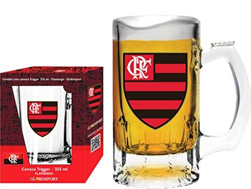 Caneca Trigger 375 Ml Flamengo Logo Globimport Transparente
