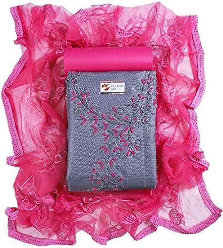 Women s Kota Doria Silk Handwork Unstitched Salwar Suit Dress Material 2 Mtr Cotton Salwar By 24 Carat Suit Design 42 Free Size