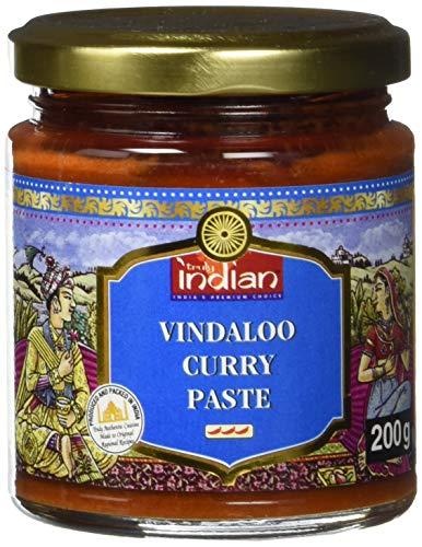 TRULY INDIAN Currypaste Vindaloo – Sehr scharfe Würzpaste für individuelle, schnelle Gerichte – Authentisch indisch kochen – 6 x 200 g