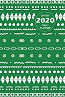 Pattern Lifestyle, Dated 2020 Daily Planner, 365 Days Blank Lined, Write-in Journal (Green)