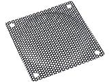 Lüftergitter 80x80mm schwarz Metall Gewebe zum schrauben