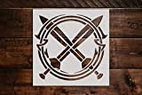 Circle of Swords Stencil DIY Reusable Craft and Painting Wall Stencils - 324 (6'x6')