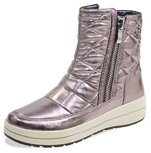 CAPRICE Damen Winterstiefel 26454-21,Frauen Winter-Boots,Schneestiefel,warm,wasserdicht,Tex Decksohle,4cm,Rose METALLIC,UK 4