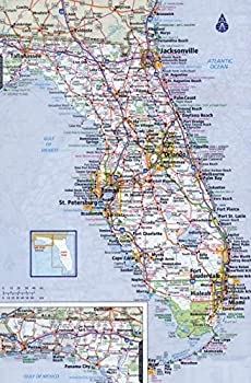 Home Comforts Large Detailed Roads and Highways map of Florida State with All cities-20 Inch by 30 Inch Laminated Poster with Bright Colors and Vivid Imagery-Fits Perfectly in Many Attractive Frames