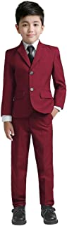 burgundy color suit