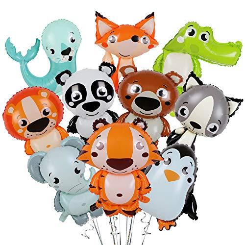 Gxhong Tiere Ballons, 10 Stück Niedliche Tier Folienballons, Kindergeburtstag Ballons, Geeignet für Tierpartys, Kinder Geburtstag Party, Party Deko und Babypartys