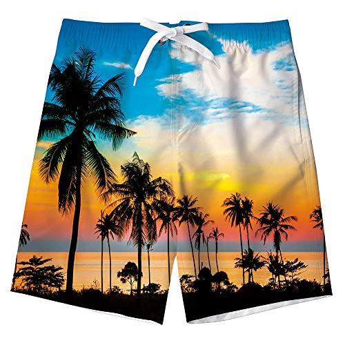IDGREATIM Jungen Galaxy Cars Drucken Badehose Sommer Cool Quick Dry Board Shorts Badeanzug mit Seitentaschen