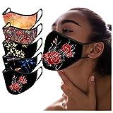 5 Stück Mundschutz für Erwachsene,Nasenschutz MTI Motiv, Waschbar Winddicht Staubdichte Bedeckung Atmungsaktiv Mundschutz und Nasenschutz