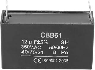 Condensador de motor, CBB61 Condensador de plástico Generador de gasolina Arranque Condensador de aire acondicionado 350VAC 12UF para motor de ventilador