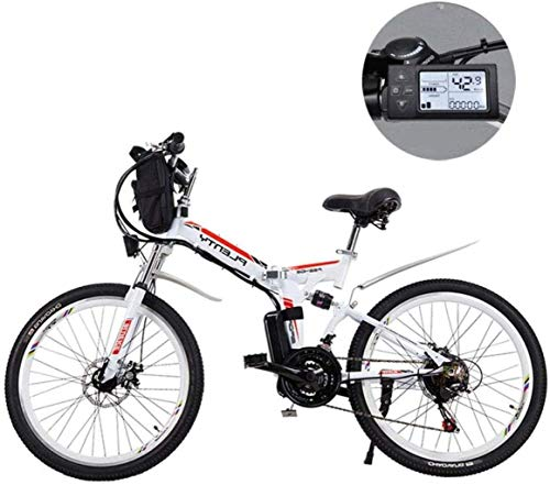 CSS 24 inch Electric Mountain Bikes,Removable Lithium Battery Mountain Electric Folding Bicycle with...