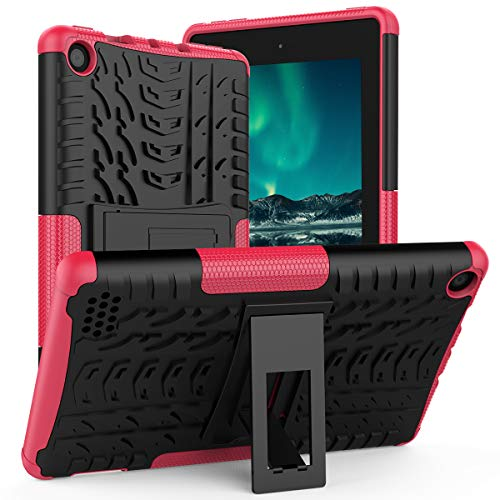 ROISKIN Dual Layer Heavy Duty Protective Case Cover for Tablet 7 inch Case 2017/2019 Release 9th/7th Gen