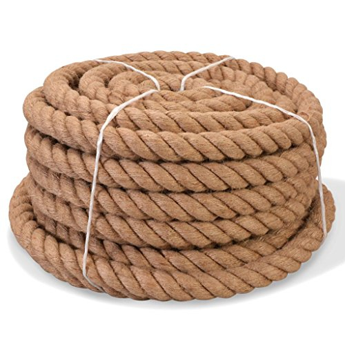 Tidyard Seil 100% Jute Bindeschnur Juteseil Mehrzweckseil Tauwerk Seil Verwendung für Landwirtschaft Bootssport oder Garten - 40 mm x 30 m