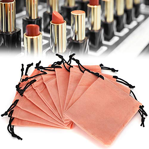 10pcs sac de rangement en velours avec cordon de serrage, sac d'emballage de bijoux cosmétiques, pochettes cadeaux (10 x12cm)