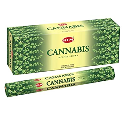 HEM Cannabis Incense Sticks - Pack of 6 - 120 Count - 301g from HEM