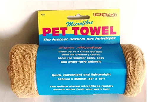 SnuggleSafe Micro Fibre Dog huisdier handdoek, Standard, BRON