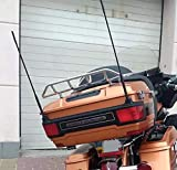 2-Pack Short Whip Metal AM/FM/XM CB Antenna Mast for Harley Davidson 16 inch