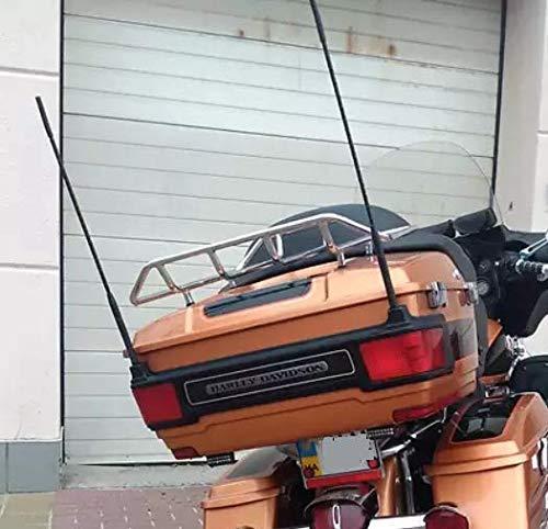 2-Pack Short Whip Metal AM/FM/XM CB Antenna Mast for Harley Davidson 16 inch New