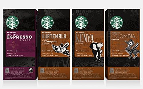 Starbucks Nespresso Espresso Selection Coffee Set 4 Flavour...