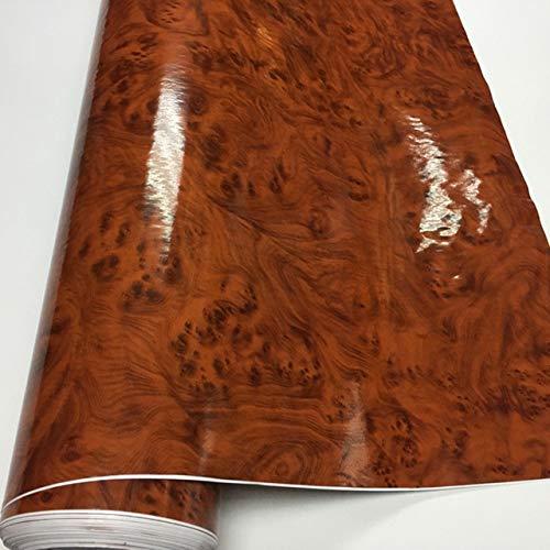 Chengxin Car Decals 50 * 200 / 300CM Alta Brillante del Grano de Madera del Interior del Coche DIY del Vinilo de la Etiqueta engomada película del Abrigo / 10/20/30/40 / 50X152CM