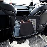 MOEGFY Red de bolsillo para bolso de mano, organizador de asiento trasero de coche para bolso y artículos más pequeños, red de almacenamiento entre dos asientos, bolsa de almacenamiento colgante
