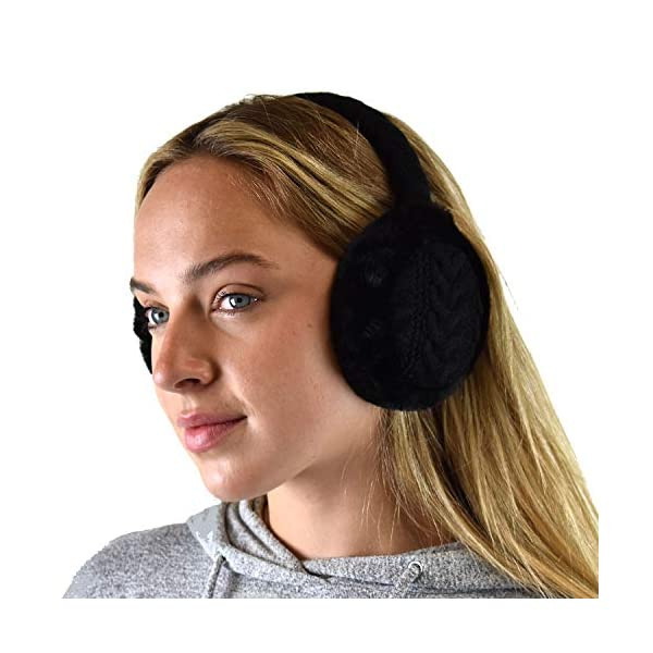 C.C Soft Winter Warm Adjustable Headband Ear Warmer Earmuffs