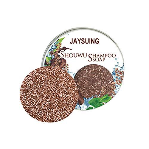 2 PCS Shampoo Soap Planta Natural Ingredientes Polygonum Multiflorum Shampoo Jabón para El Control De Aceite De Salud Mejorado del Cuero Cabelludo, Anti-caída Y Anti-picazón