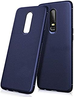 Twill Texture Slim Soft TPU Mobile Phone case for OnePlus 6 - Blue