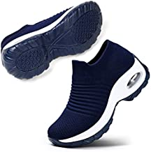 STQ Women's Walking Shoes Casual Sneakers for All Day Wear Navy, 7