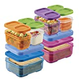 Rubbermaid LunchBlox Kids Box and Meal Prep, 2 Pack Set | Stackable & Microwave Safe Lunch...