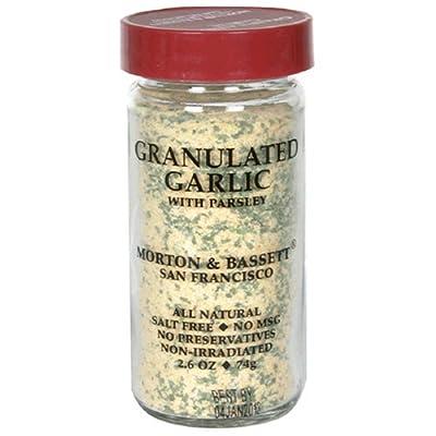 Morton & Bassett Granulated Garlic, 2.6-Ounce Jars (Pack of 3) from Morton & Bassett