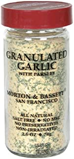 Morton & Bassett Granulated Garlic, 2.6-Ounce Jars (Pack of 3)