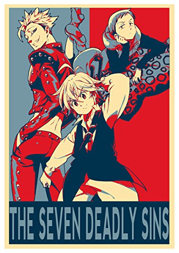 Instabuy Poster Seven Deadly Sins Propaganda Characters (A) - A3 (42x30 cm)