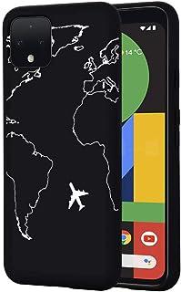 ZhuoFan Google Pixel 4 Case, Phone Case Silicone Black with Pattern Ultra Slim Shockproof Soft Gel TPU Back Cover Bumper S...