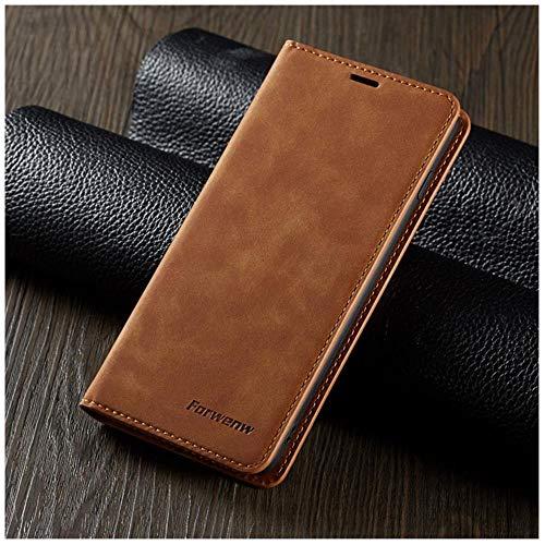 TGBS - Funda de piel con tapa para Samsung S9 S8 S7 Edge S10 S20 Ultra Plus Note 9 10 Lite, marrón, S20 Ultra 6.9inch