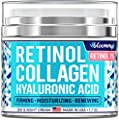 Made in USA — Collagen Anti-aging cream for Face with Hyaluronic Acid — Day & Night Retinol Moisturizer — Anti-Wrinkle Cream — 1.7 oz by BLOOMMY