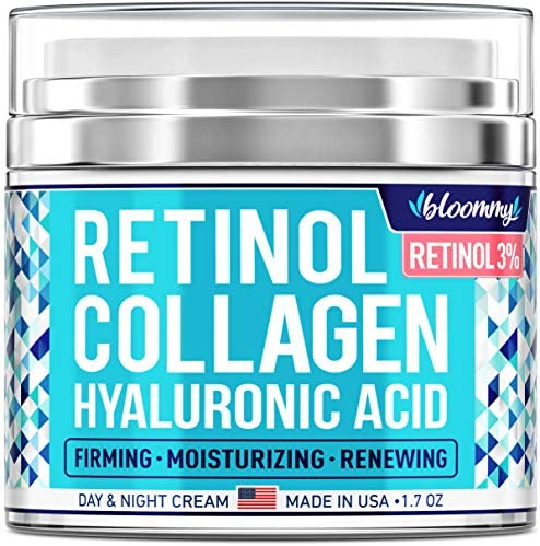 Collagen Retinol Cream for Face with Hyaluronic Acid Made in USA Collagen Anti Aging Cream Retinol product image