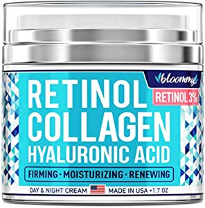Retinol Cream - Bloommy Retinol, Collagen & Hyaluronic acid cream comprises only plant-based ingredients to deliver efficient daily skincare. Perfect for him & her, our retinol moisturizer deeply nourishes facial skin tissues and removes the signs of...