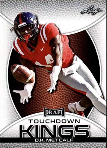 2019 Leaf Draft #86 D.K. Metcalf RC Rookie Football Trading Card