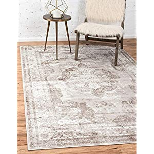 Unique Loom Sofia Collection Traditional Vintage Area Rug, 9′ x 12′, Light Brown/Tan