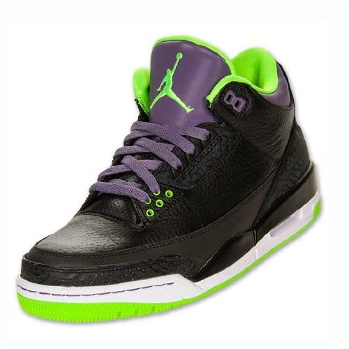 e66508afe82c NIKE Mens Air Jordan 3 Retro Joker Leather Basketball Shoes