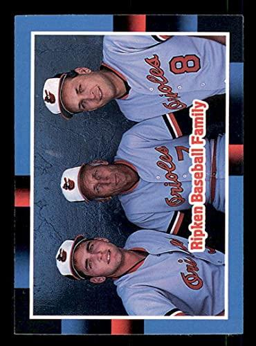 Baseball MLB 1988 Donruss #625 Billy Ripken/Cal Ripken Sr./Cal Ripken Jr. The Ripken Family NM-MT Orioles
