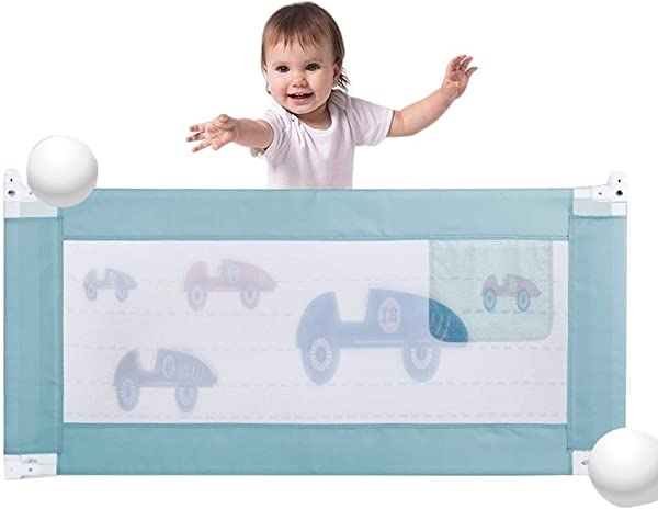 Toddler Bed Rail Safety Bed Rail Guards Vertical Lift Protection Guard Anti Fall Bedrail Assist Extra Long Tall Bedrailing For Convertible Crib Queen Size Bed Size 180cm