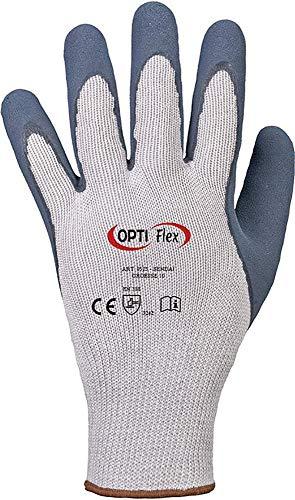 12 Paar Handschuhe OPTI FLEX *SENDAI* Latexschaum/gesandet
