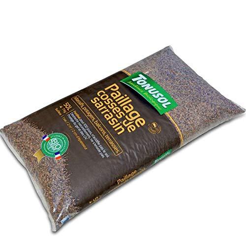 Tonusol Cosses de Sarrasin fertilisées pour paillage. UAB Sac 50 litres
