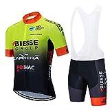 STEPANZU Maillot Ciclismo Verano Hombre MTB Ropa + Culote Pantalones Cortos Conjunto de Ropa Ciclismo para Bicicleta Montaña Ropa de Equipo Profesional