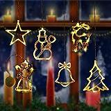 Luci della stringa vacanza,Catena della lampada della finestra,Luminose per finestre,Catena Luminosa,Illuminazione natalizia,Illuminazione natalizia,Finestra illuminato (E)