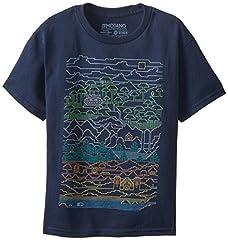 Minecraft Camiseta de Color Azul Marino para Niño