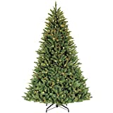Puleo International 6.5 Foot Pre-Lit Fraser Fir Artificial Christmas Tree with 500 UL-Listed Clear Lights, Green