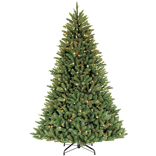 Puleo International 6.5 Foot Pre-Lit Fraser Fir Artificial Christmas...
